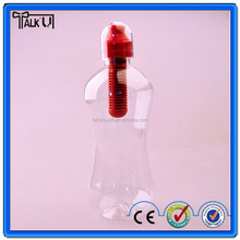 Multi- functional recycle sport activated carbon filtered water bottle, BPA Free travel filter water bottle