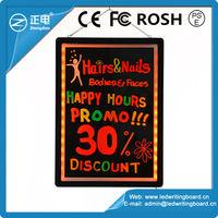 Ali export from China black light dry erase board, illuminated fluorescent marker board, electronic chalkboard