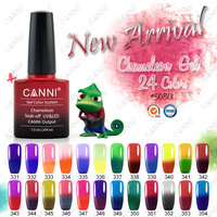#50801W 2015 new products temperature change nail gel paint 7.3ml CANNI UV LED color changing gel polish