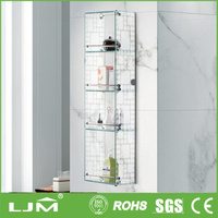 with best after sales service wall mounted glass display case