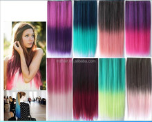 Europe and the United States wig harajuku color gradient a chip 5 clips directly pills