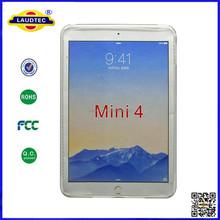 New model pudding TPU case for ipad mini 4,Transparent TPU case for ipad mini 4