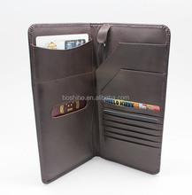 Man's genuine leather passport case wallet travel passport cover