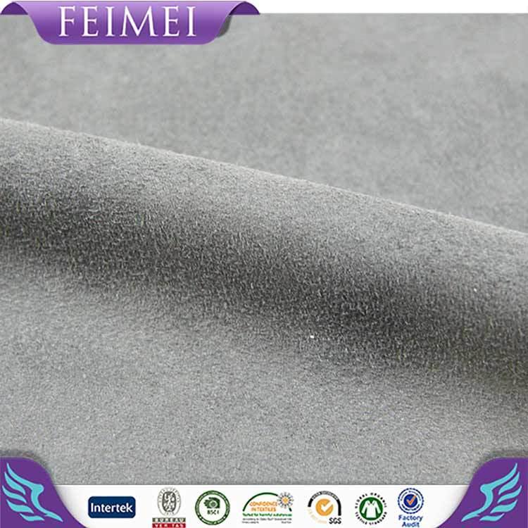 2016 Feimei 92% poliéster 8% Spandex tela de gamuza de colores venta al por mayor en China