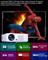 HD 1080p support home theater projector led light source projector professional home cinema projector with tv tunnel