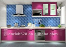Cheap red lacquer kitchen cabinets