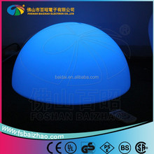 outdoor grass RGB color changing rechargeable glow LED half ball lamp