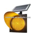 amber 200mm energia solar luz intermitente de alarme