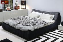 Concise modern bedroom sets bedroom furniture house Supper soft tufted bed