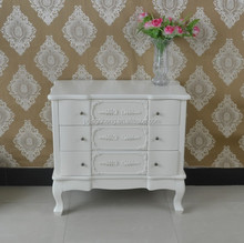 home furniture wood tall boy table 3 drawers matt white ivory living room cabinet