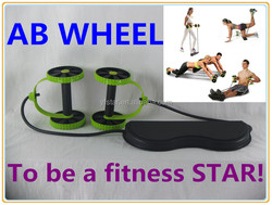 2015 new cheap portable wholesale ab wheel manual ab stretch power roller exercise equipment for sale
