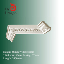 HD-100810-e indoor decorative polyurethane eps foam building cornices