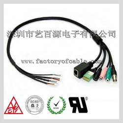 Selling to TaiWan 6Pin Pitch 2.54 Terminal block Stereo Audio Video IP Camera Communication Cable
