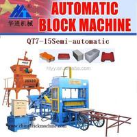 QT7-15 Semi-automatic clc bricks manufacturing process