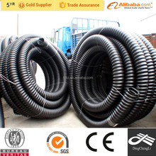 White or black Flexible hdpe pipe for water drainage