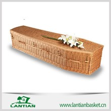 2015 Popular wicker coffin with liner 100% made by hand