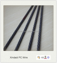 hollow core slab used 5.0mm ribbed/plain prestressed concrete wire
