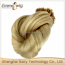 Factory directly European 100% remy human hair extensions,u tip hair