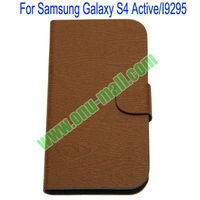 New Fashion Horizontal Stripes Leather Case for Samsung Galaxy s4 Active/I9295