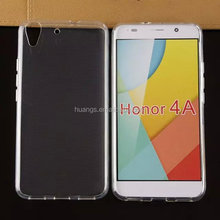 2015 new products soft tpu silicone transparent clear crystal cases for huawei honor 4a phone case fast shipping