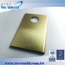 Anodized aluminum mobile phone case