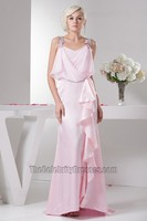 Floor Length Sleeveless Pink Prom Gown Evening Formal Dresses