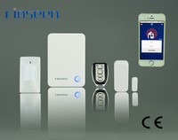 Better than GSM!Finseen cloud IP home security alarm no monthly fees,more security & stable control by samsung & iphone