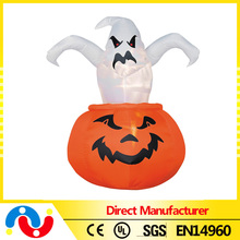 Party accessory horrible pumpkin with ghost halloween