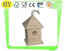 cheap natural wooden bird house wholesale