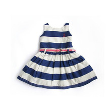 Hot sale summer girls dresses with cat design brand print girls dress without belt children wear kids time vestidos