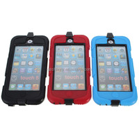 Best Price Excellent Quality Three Colors Heavy Duty Armor Hard Case Cover Stand + Clip for iPod Touch 5 5th