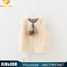 2015 Children Autumn Clothing Girl Soft Faux Fur Coat Baby Girl Fur Balls Winter Vest Coat
