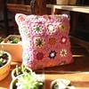 Countryside Square crochet hand embroidery cushion cover