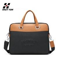 Traditional vintage brown color laptop bag cow leather handbag