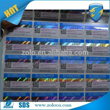 ZO LO factory price and hot selling scratch off sticker, self-adhesive label