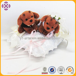 high quality chinese wedding dress dog plush toy