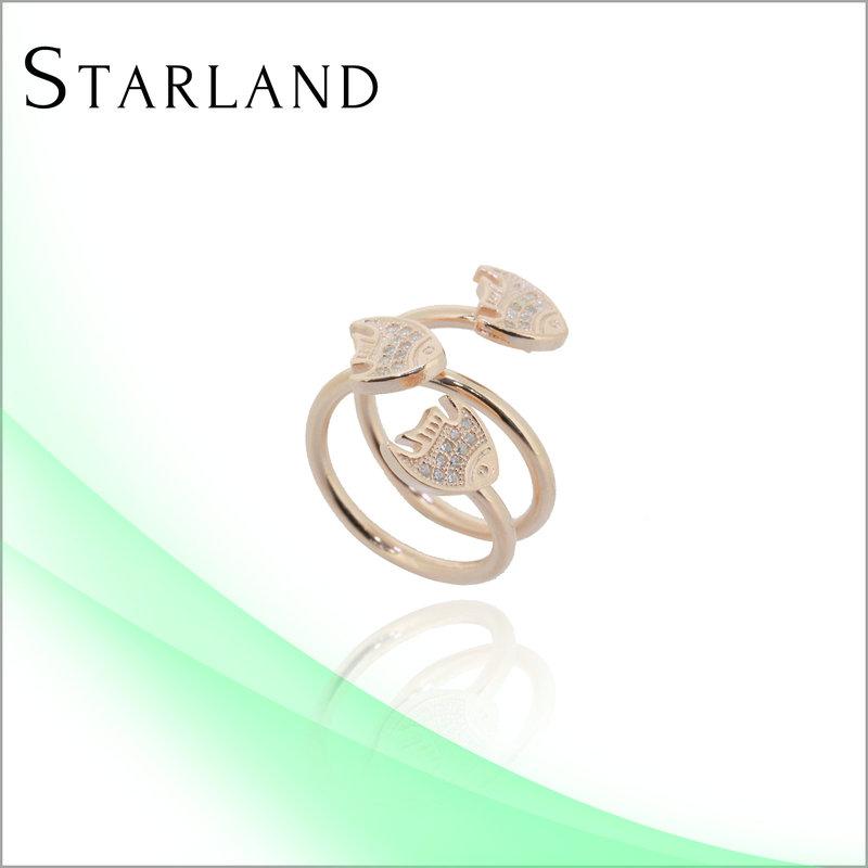 Wholesale 24 Karat Gold Diamond Dust Ring Rolled Gold Jewelry Imitation Jewel