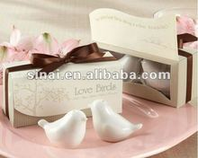 Sell Well Love Birds in the Window Salt and Pepper Shakers Wedding Favors