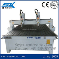 Most popular woodworking furniture engraving techno cnc router for sale with 2 spindle SKW-1825DL