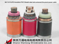 NH-YJV XLPE Fire resistant cable price/fire resistant PVC Cable/ Fire resistant electrical cables