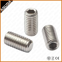 STAINLESS STEEL & GALVANZIED STEEL DIN913 SET SCREW WITH FLAT POINT