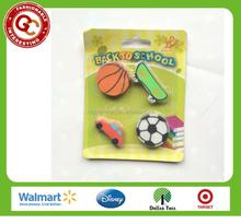 new design toys shaped eraser for kids