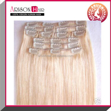Wholesale factory price 100% unprocessed natural peruvian clip in hair extensions !! Accept paypal