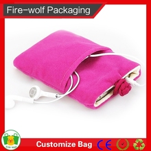 Gold Stamping Jewelry Pouch Microfiber Velvet Bag For Sunglasses