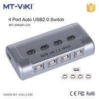 MT-VIKI 1 usb 2.0 port and 4 pcs port mini auto usb sharing switch support hotkey and push button MT-SW241-CH