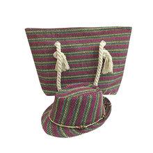 2015 fashion summer fashion paper straw beach Handmade felt shoulder tote shopping bag