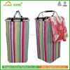 China Zhejiang Folding Aluminum Frame laundry Hamper washing clothes basket