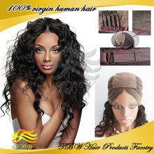 Wholesale qingdao brazilian virgin silk top full lace wigs, glueless human hair wigs for black women