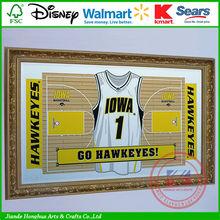 Trademark University of Iowa Basketball Court black hall mirrors