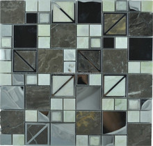 made in China mozaic glass mix stainless steel mosaic factory tile pictures